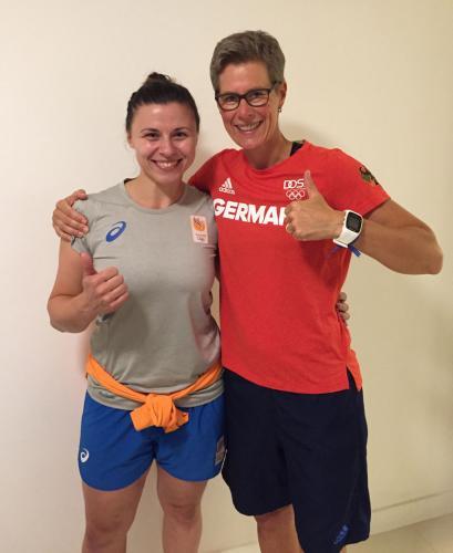 Nach erfolgreicher Reha trafen wir uns im Olympischen Dorf in Rio 2016 wieder ...